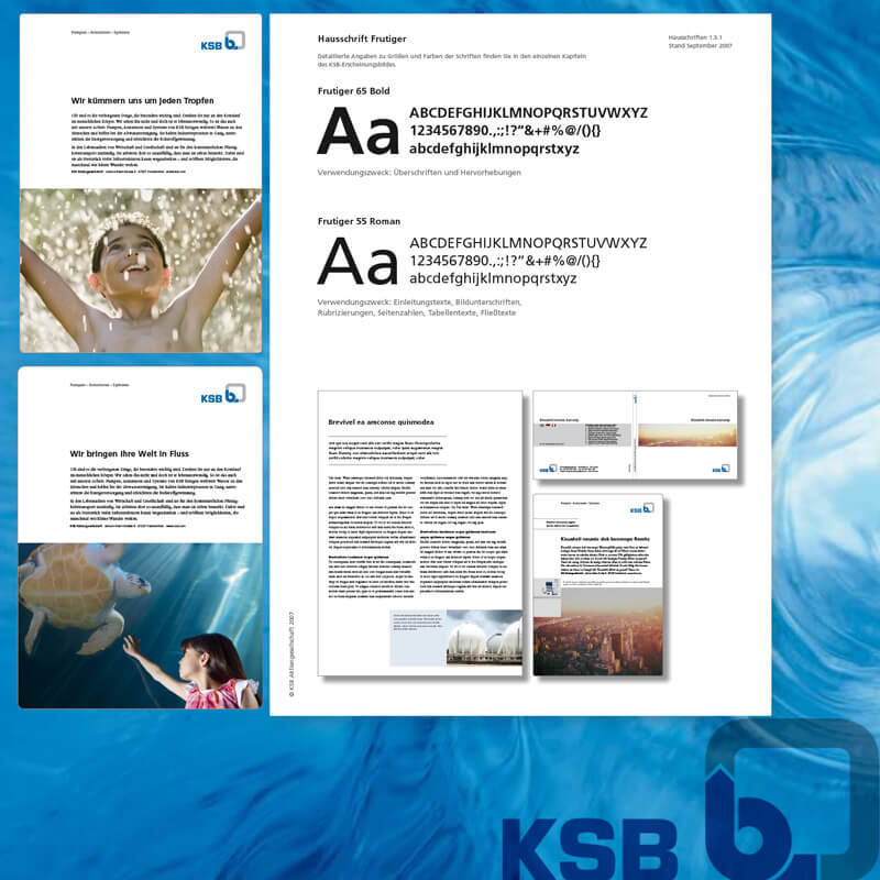 KSB Frankenthal, corporate Design, staakdesign