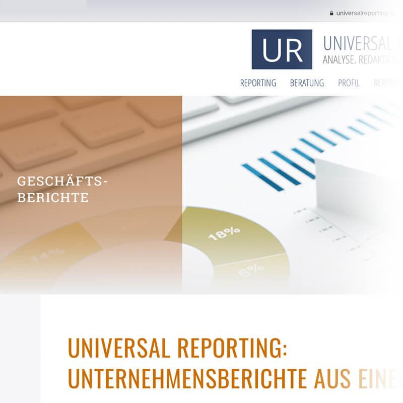 Universal-reporting website